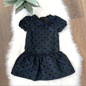 NWOT BABY GAP Black Polka Dot Short Sleeve Dress